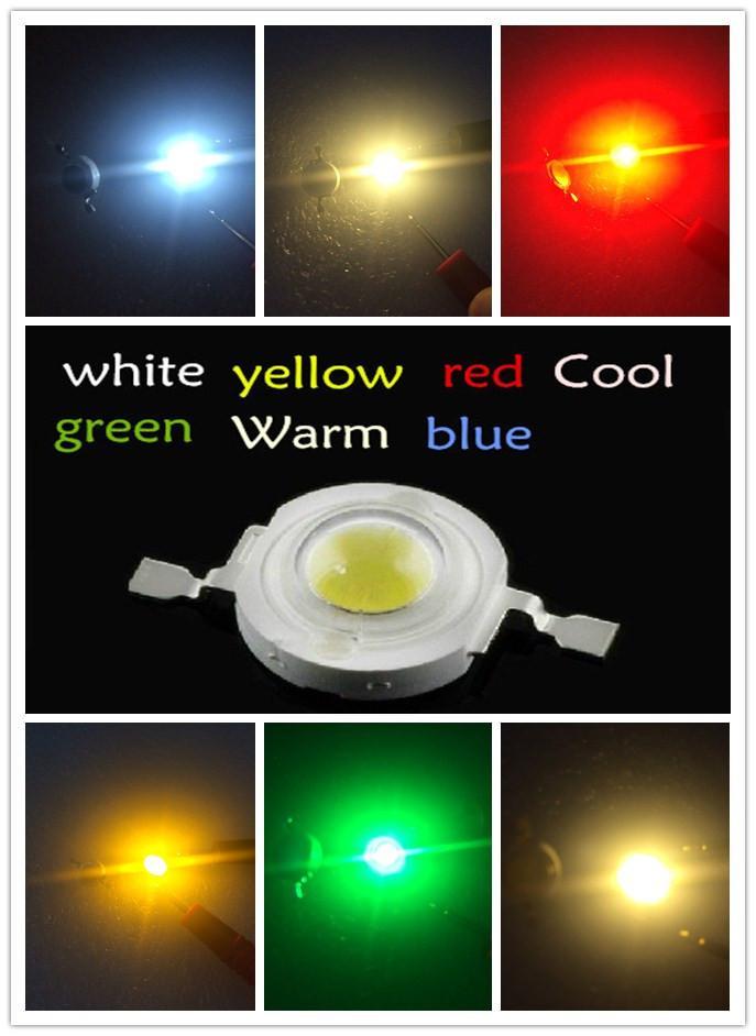 Atacado-Frete Grátis 100PCS 1W 100-120LM LED Lâmpada IC SMD Lâmpada Luz Daylight branco Vermelho Azul Verde Amarelo Alta Potência 1W LED Lamp Talão