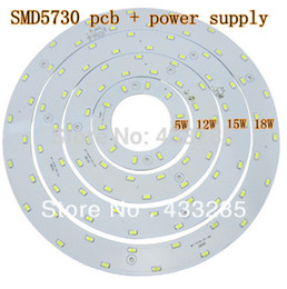 Wholesale Led Board 5w - Wholesale-5W 12W 15W LED PANEL Circle Light 85V-265V AC SMD 5730,LED Round Ceiling board the circular lamp board for Dining room