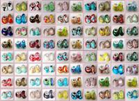 gümüş boncuk çekirdekleri toptan satış-1000 Adet / grup 925 Ayar Gümüş Çekirdek Murano Lampwork Cam boncuk fit Avrupa Pandora Charms bilezikler Noel Hediyeleri Sıcak !!