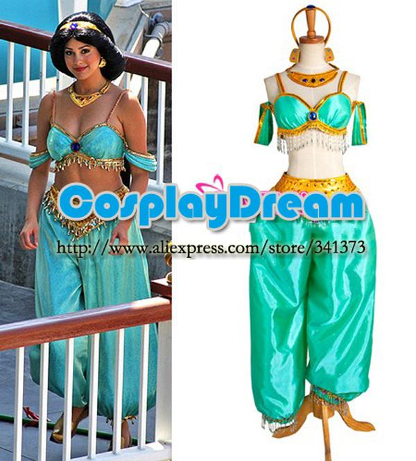 Aladdin Jasmine Princess Dress Costume Cosplay Custom Made Fancy Dress For Christmas Anime Female Costumes Cosplay Costumes Girls From Somitech ...  sc 1 st  DHgate.com & Wholesale Hot Sale! Aladdin Jasmine Princess Dress Costume Cosplay ...