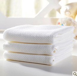 Wholesale Muslin Bibs - Wholesale-Wholesale 68Pcs  Lot NewBorn Infant handkerchief Gauze Muslin Square Bamboo Bath Wash cloths bibs Towel 40*40cm