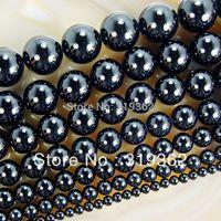 "Wholesale Onyx 14mm Beads - Wholesale-15.5"" Smooth Round Black Agate Onyx Beads 4 6 8 10 12 14mm Pick Siz Free Shipping-F00061"