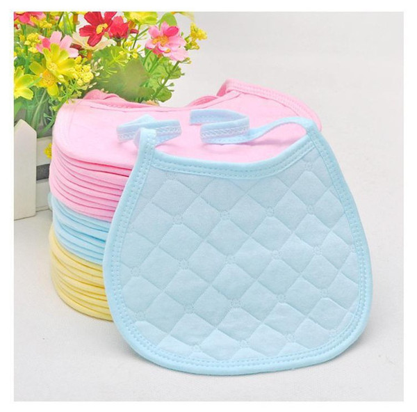 Wholesale-20pcs/lot Baby Products/Baby Bibs/Infant Saliva Towels /Baby CottonTied Bib/Round Corner Bib Cloths/Burp Cloths