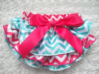 Wholesale Cute Little Underwear - Wholesale- New Cute Baby Zebra Bloomers Little Girls' Satin Ruffles Shorts with Ribbon Bow Kids Underwear Diaper Covers 3Sizes 10Pcs