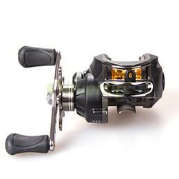 China Wholesale-Free Shipping Dynamic 9+1 BB 6.3:1 Baitcasting Fishing Lure Reel Bait Caster Casting Baitcast Centrifugal Brake System New Black supplier bait systems suppliers