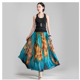 Discount Bohemian Style Maxi Skirts | 2017 Bohemian Style Maxi ...