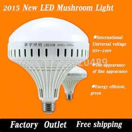 Wholesale Super Ufo Free Shipping - Wholesale-Free shipping super bright LED bulb CFL E27 screw B22 Bayonet 90v-260v 12W15W30W UFO Light Industrial Light Mushroom Light