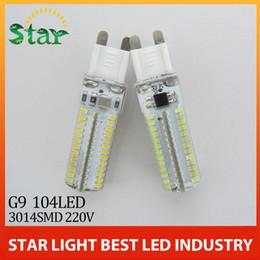 Wholesale Max Lumen Led Light - Wholesale-1pcs AC 220 G9 LED Bulb Lamp Max 9W 3014 SMD Light High Lumen Energy Saving Silicone Crystal 104Leds Lighting for chandelier