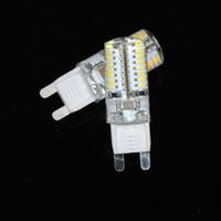 Wholesale Cheapest Corn Led Bulb - Wholesale-Cheapest!! 5pcs G9 led Lamp 6W 3014 SMD 64 Leds White Warm white AC220-240V Non-polar LED Corn Bulb Crystal Light Chandelier