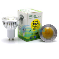 iluminação globo de substituição venda por atacado-Atacado-Frete grátis 85-265V 9W GU10 COB CONDUZIU a luz da lâmpada GU 10 levou Spotlight Branco / Branco quente iluminação led de poupança de energia