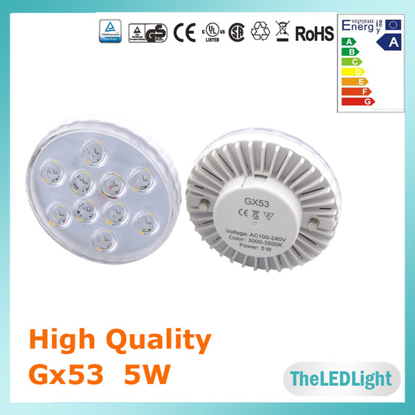 Atacado-LED Gabinete Luz LED Gx53 Lâmpada SMD 5730 5 watt 110 V 220 V 480lm Gx53 Lâmpada CE Rohs FCC Aprovado GX53 Lâmpada LED