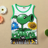 Wholesale Plants Vs Zombies Clothing - Wholesale-little boys clothing Plants Vs Zombies shirt clothes cotton summer children casual t shirts for boys cheap good quality clothes