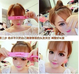 Wholesale Hair Cut Clips - Wholesale-1 set DIY Professional Hair Cutting Clip Comb Hairstyle Typing Trim Tool (B107)