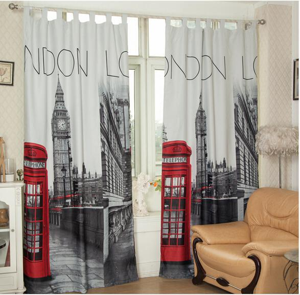 2019 Wholesale 3D British Curtains Cheap Bedroom Curtains
