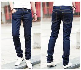 Wholesale Drop Jeans Man - Wholesale-Drop SHIPPING mens slim fit casual pants Fashion jeans mens straight leisure pencil trousers X-701