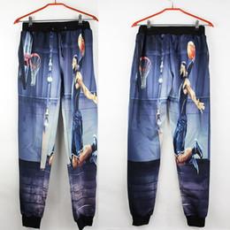 Wholesale Cut Loose Pants - Wholesale-New arrival sweatpants 3D printed LeBron James Shoot a basket joggers casual pants women men outfit clothes