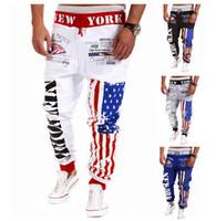 Wholesale Men Sport Jogging Pants - Wholesale-Alisister Hot fashion men women's joggers pants basketball pant jogging sport sweatpants hip hop trousers 3d Flag running