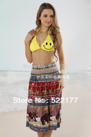Compra Vestito Da Estate Superiore Del Tubo Di Cotone-All'ingrosso-Libero 2015 Estate della novità multi-way bikini vestito europeo americana Circle Gonna Top senza spalline abito da Iycra cotone Dress Beach