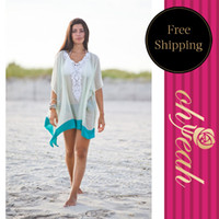 Wholesale Good Quality Clothes Covers - Wholesale-B231 New recommend see through V-neck beach for women low price good quality beach clothes best sale one size bikini cover