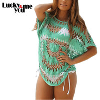outlet cover sizes - Spring Summer Women New Hot Casual Sexy Beach Bikini Cover Up Swimwear Plus Size Crochet Saida De Praia Bathing Swim Outlet
