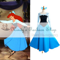 Wholesale Ariel Costumes - Wholesale-Free shipping Custom made Adult Ariel Princess Costume from the Little Mermaid