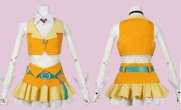 Cosplay вокалоид бесплатная доставка онлайн-Wholesale-free shipping Vocaloid GUMI Megpoid cosplay costume customized