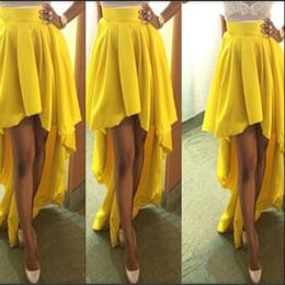 Wholesale Pleated Skirt Irregular - Wholesale-2015 casual fashion ladies girl women long tail irregular asymmetrical pleated high waist skirts clothing female saias