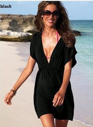 Wholesale Good Brand Black Suit - Wholesale-New arrive hot women skirt dress swimwear sexy bikini cover up summer beachwear brand good quality 2015 new gift brand 14 colors