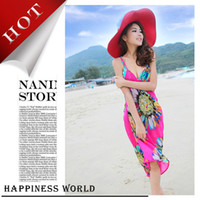 Wholesale Cheap Women Body Suits - Wholesale-Women 2015 cheap cute bathing suits,fashionable sexy cover ups dress, 2015 new style sexy beach coverup beach wrap dress.