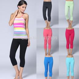 Wholesale Xxs Yoga Pants - Wholesale-FREE GIFT NEW Arrival Women's Pure Colors Lulu Yoga Pants. Lovely Casual Pants Lady's Sports2015 Wunder Pant Size :XXS-XL