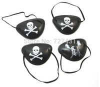 Wholesale Cyclops Eye Patch - Wholesale-Free shipping pirate eye patch 10pcs Halloween masquerade pirate accessories Cyclops eye patch