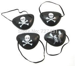 Wholesale Cyclops Eye Patch - Wholesale-Free shipping pirate eye patch 10pcs Halloween masquerade pirate accessories Cyclops eye patch