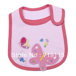 Wholesale Butterfly Baby Bib - Wholesale-Free Shipping 10 PCS Lot Butterfly Pattern Casual Bibs  Burp Cloths   Lunch Napkin Towel Costume For Baby Infant DCX10