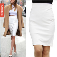Wholesale Dropship Skirt - Wholesale-Wholesale Retail Ctrlstyle High Waist Skirt OL Work Saia Slim Solid Color Women Pencil Skirt+Free Shipping Dropship