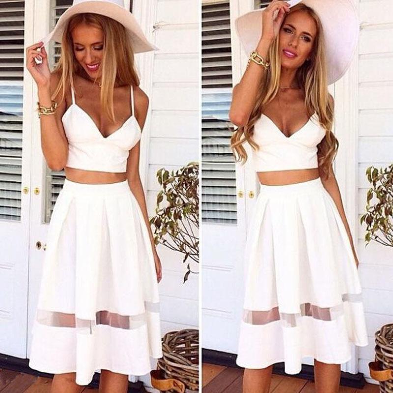 424edc2779 2019 Wholesale Selljimshop Women Two Piece Crop Top Midi Skirt Set Summer  Holiday Beach Skirt Jimshopping From Xx2015, $19.62   DHgate.Com