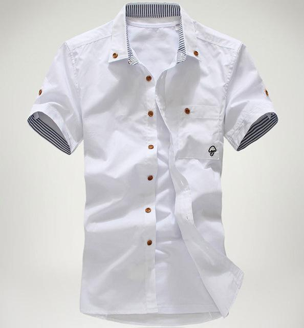 Best Wholesale New Fashion Men Slim Casual Shirts Stylish Button ...