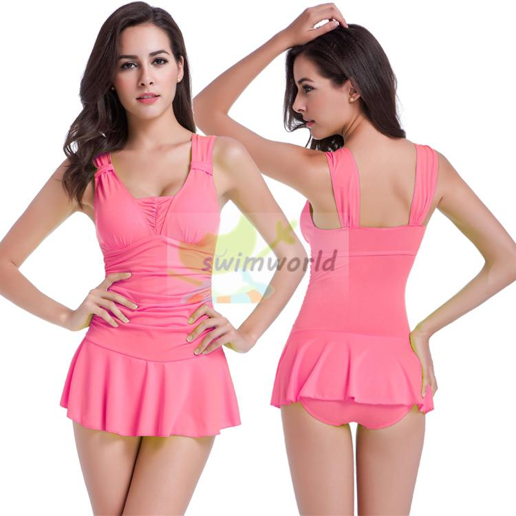 c7c834c4d3 Wholesale-Womens One Piece Swimsuits With Skirts Cheap Cute Bathing Suits  Modest Swim Wear Online with  25.26 Piece on Salom s Store