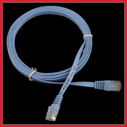 Wholesale Flat Network Cable - Wholesale-fashionable carroteer New 6FT 2M CAT6 CAT 6 Flat UTP Ethernet Network Cable RJ45 Patch LAN Cord High Qualit full new
