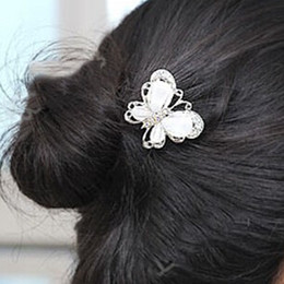 Wholesale Cheap Designer Hair - Wholesale-2015 Brand New Butterfly Hair Pin For Women Designer Mini Women Hair Pin Cute Cheap Styling Tools