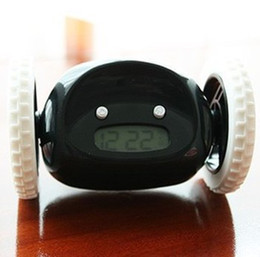 Wholesale Digital Alarm Clock Wheels - Wholesale-Free Shipping 2015 Vogue to live in,Clocky NEW Digital LED Runaway Alarm Clock With Wheels ,Many color Can wholesale