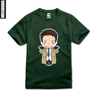 Wholesale Supernatural Tv Series - Wholesale-FUNNY CARTOON MISHA COLLINS CASTIEL T SHIRT Supernatural TV Series Sam Dean 9 all Colours Size XS-2XL