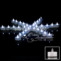 Wholesale Gel Wax For Candles Wholesale - Wholesale-White LED Candles Light 100pcs lot Electronic LED candle light Flameless Batteries include for Wedding Birthday Party Dec