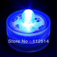 Wholesale-10pcs / lot forma redonda de mini azul impermeable LED vela candelita