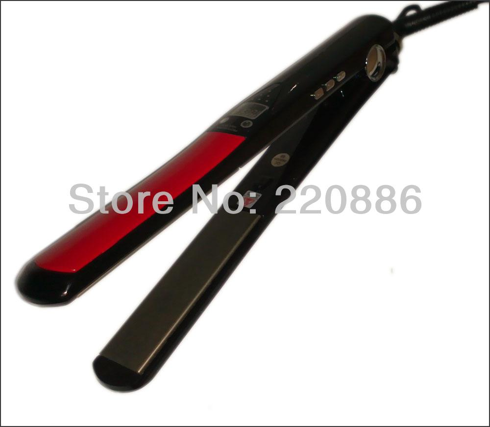 cheap hair styling tools lcd display titanium plates flat iron 4187