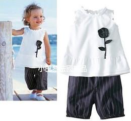 Wholesale Doomagic Set - Wholesale-Children's clothing doomagic elegant princess formal dress set fashion summer baby girls white sleeveless skirt + shorts set