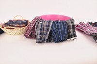 Wholesale Mens Plaid Boxer - Wholesale-4Pcs Lot New Suitable Breathable men's underwear boxers shorts plaid loose mens cueca boxer High Quality