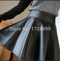 Wholesale Sexy Tall Man - Wholesale-The European man-made leather skirt of tall waist skirt of bitter fleabane bitter fleabane skirt sexy woman leather skirt