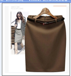 Wholesale Pencil Skirt Suits - Wholesale-New Fashion Women's Business Suit Pencil Skirt Elegant Wool Vocational OL Skirts