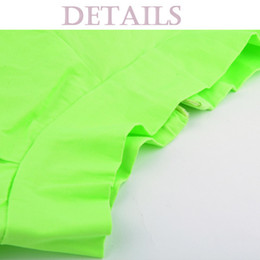 Wholesale Neon Green Ball Gown - Wholesale-Free Shipping 2015 New Fluorescent Skirt Candy Color Green Skirt Pleated Neon Plus Size XXL Skirt For womens