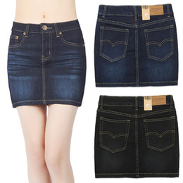 Discount Black Denim Mini Skirts | 2017 Black Denim Mini Skirts on ...